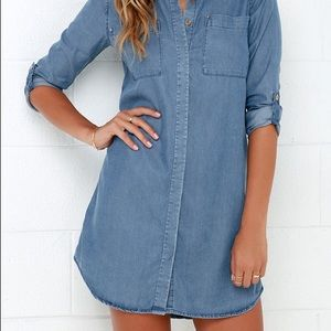 American Eagle Aerie  Tencel Denim Dress